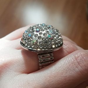 3 FOR $10 Disco Ball Silver Toned Stretch Ring